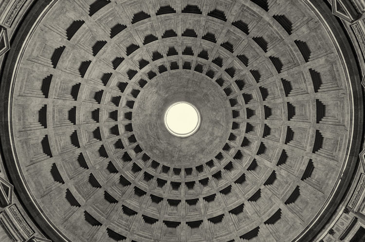 Pantheon, Rome. Agrippa Black & White Ceiling Empire Pantheon Rome Skylight Travel Architecture Black And White Blackandwhite Built Structure Cupola Design Dome History Indoors  Italian Italy Low Angle View Monument Roman Travel Destinations Urban