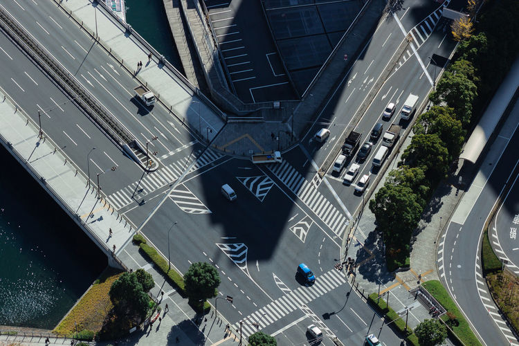 Japan Traffic Traveling Architecture Building Exterior Built Structure Car City City Street Day High Angle View Light And Shadow Motor Vehicle No People Outdoors Road Sign Street Transportation Travel Destinations