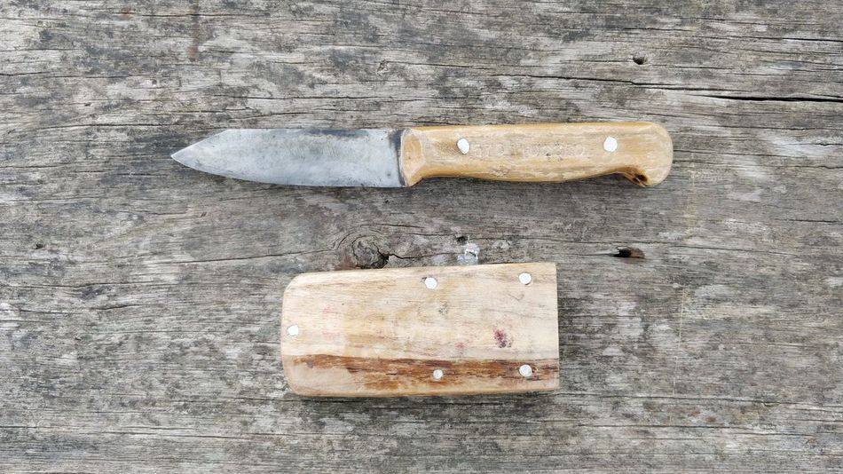 small knife and scabbard Texture Knife Scabbard Pocket Knife No People Day Close-up Outdoors