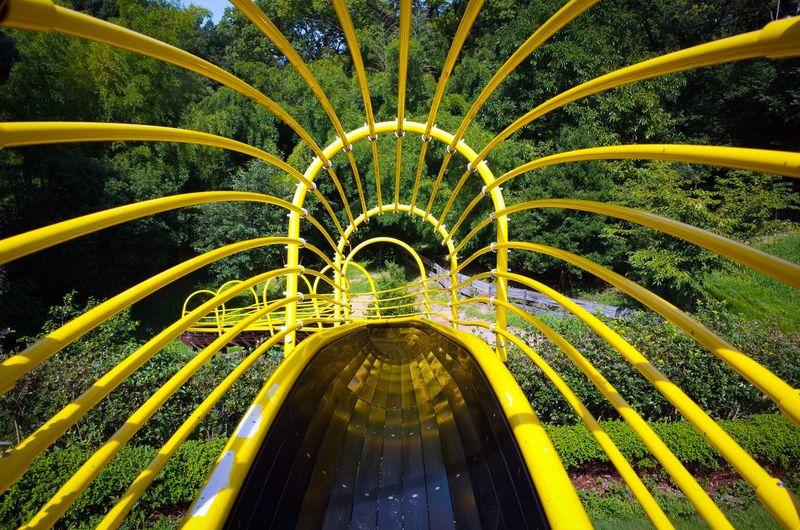 Yellow Slide At Park