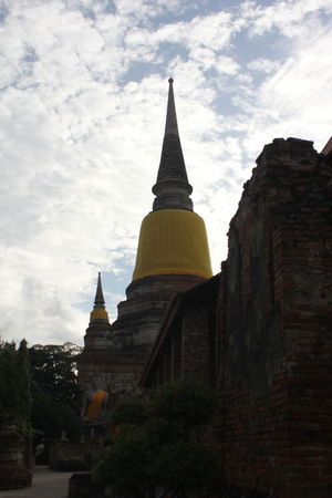 Ayutthaya | Thailand Rainy Days Shadows & Lights Ancient Architecture Building Exterior Built Structure Day History Low Angle View Nature No People Outdoors Pagoda Place Of Worship Religion Sky Spirituality Travel Destinations