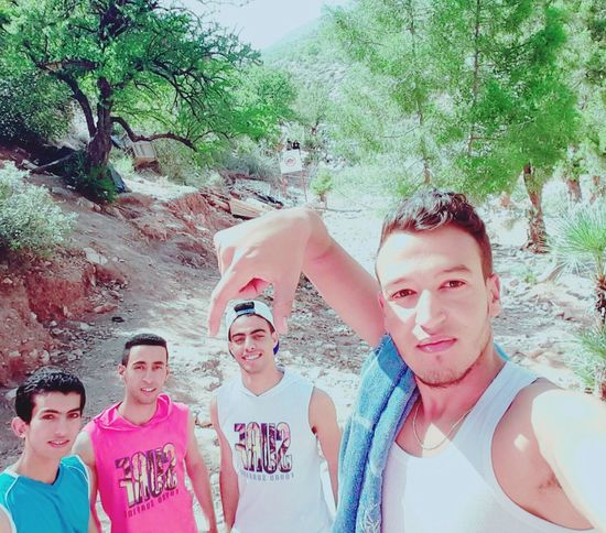 That's Me Withfriends Paradise Valley..😁 In Morroco.. The Places I've Been Today Reverside Argan Trees Mountains Taking Photos Enjoying Life MoroccoTrip Taking Photos Nature Check This Out Selfie ✌