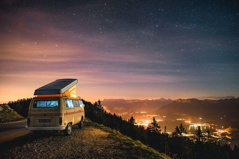 Starry night Vanlife Van Combi Space Sky Galaxy Science Outdoors Beauty In Nature Nature