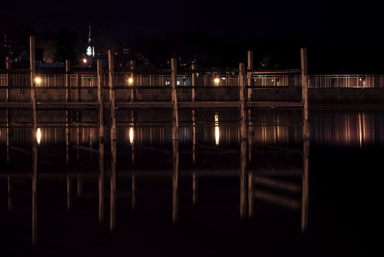 Church Dock Geometry Horizontal Symmetry Lake Night Pier Pier Reflection Small Town Symmetry Village Water Waterfront Wood Cities At Night 43 Golden Moments