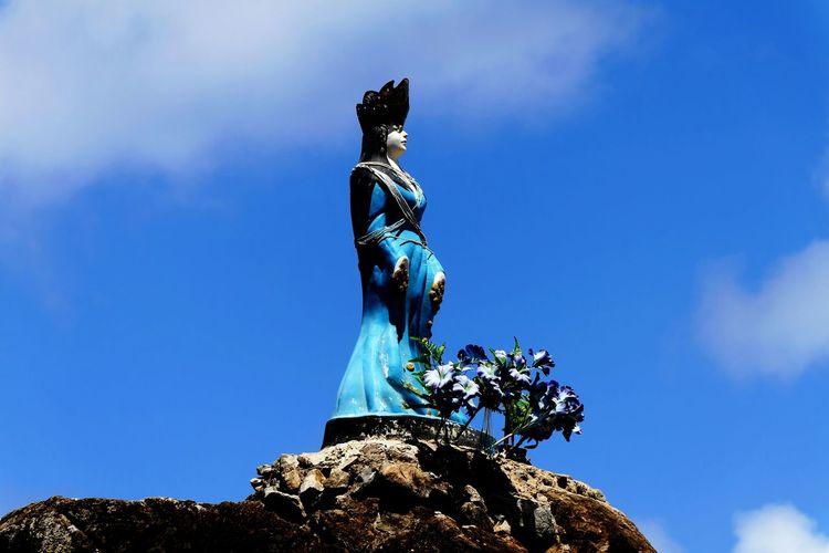 Yemanjá SalveYemanja Statue Fernando De Noronha Island Sky Collection Sky And Clouds Decoration Details Queen Orixas Artistic Photo