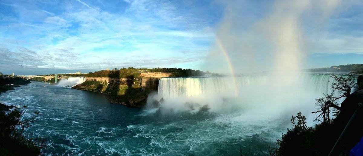 Chase the rainbow! Fall Niagara Rainbow Lookout Bridge Thecanadianside Ferry Border Photography