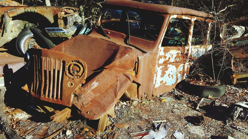 Those were the days! Old worn out lonesome, junkyard bones. Old Car Old Architecture Oldtime Art Is Everywhere