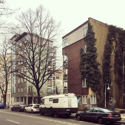 Architecture Berlin Photography Façade Köpenicker Strasse Plants Abstract Architecture Bare Tree Berliner Ansichten Berlinstagram Building Exterior Built Structure Car City Clear Sky Day Land Vehicle Minimalism Mode Of Transport No People Outdoors Sky Skyporn Transportation Tree