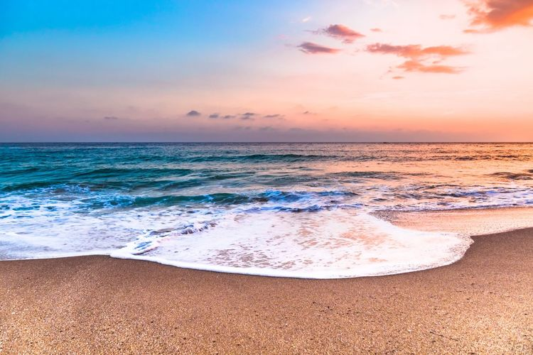 Sunset on the Cleopatra beach Sea Water Land Beach Sky Beauty In Nature Scenics - Nature Sunset Horizon Over Water Tranquility Tranquil Scene Nature Wave Horizon Sand Idyllic Outdoors 2018 In One Photograph