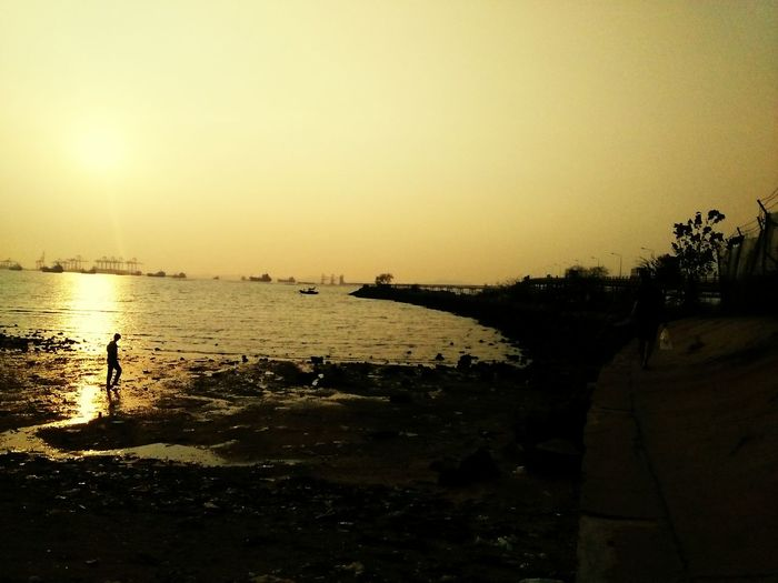View of sea at sunset