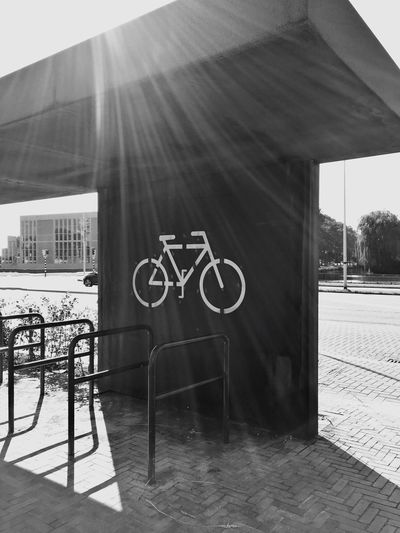 Built Structure Architecture Building Exterior Sunbeam City Outdoors Day No People Dutch Bycicle Uithoorn IPhoneography Thenetherlands Blackandwhite CyclingUnites Cycling Unites The Street Photographer The Street Photographer - 2017 EyeEm Awards Your Ticket To Europe