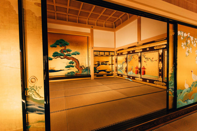 Architecture Art Built Structure Creativity Design Gold Indoors  Japan Mural Tatami Wall - Building Feature