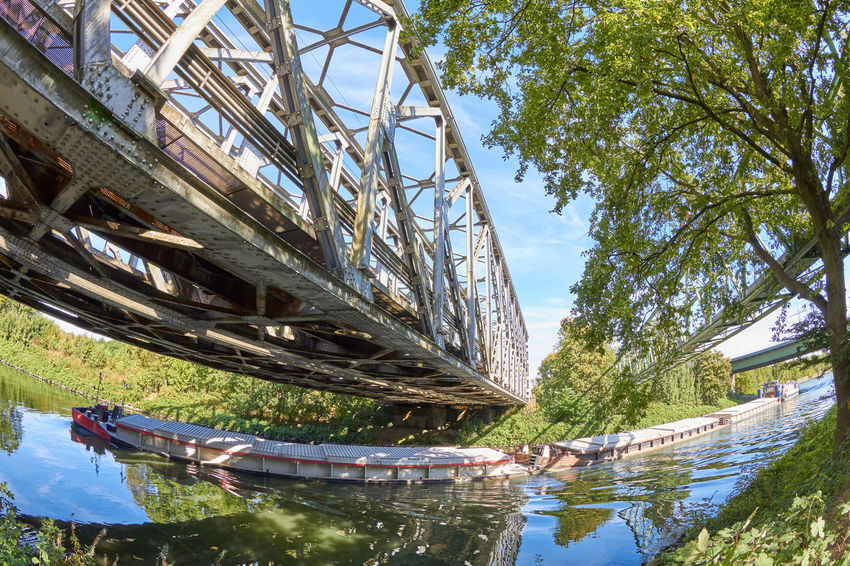 Railway Bridge Bridge Architecture Bridge Bridge - Man Made Structure Building Exterior Built Structure Connection Day Low Angle View Nature No People Outdoors Plant Railway Railway Bridge Reflection River Transportation Tree Water Waterfront
