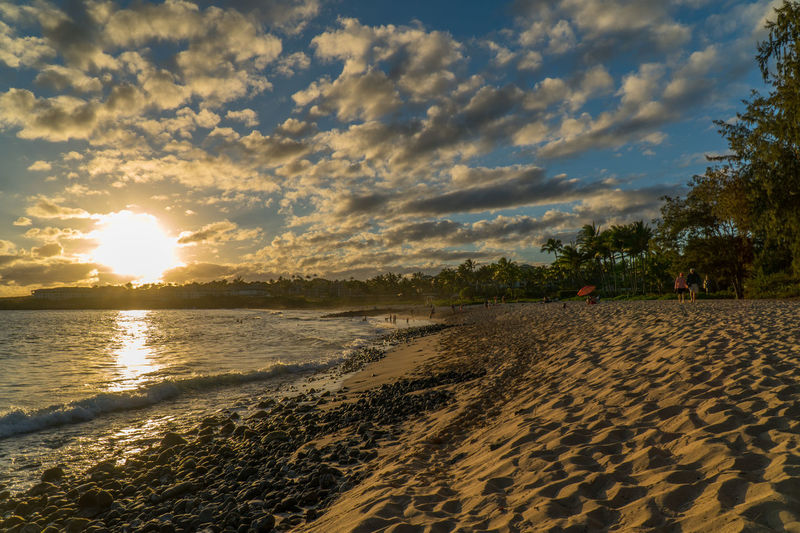 Shipwreck Beach Grand Hyatt Kauai Cloud - Sky Sunset Sky Beach Reflection Outdoors Dramatic Sky Water Nature Sand Sea Vacations Beauty In Nature EyeEmNewHere First Eyeem Photo Adapted To The City EyeEm Best Edits EyeEm Best Shots Sony A6300 Nature Travel DestinationsBeauty In Nature Travel The City Light