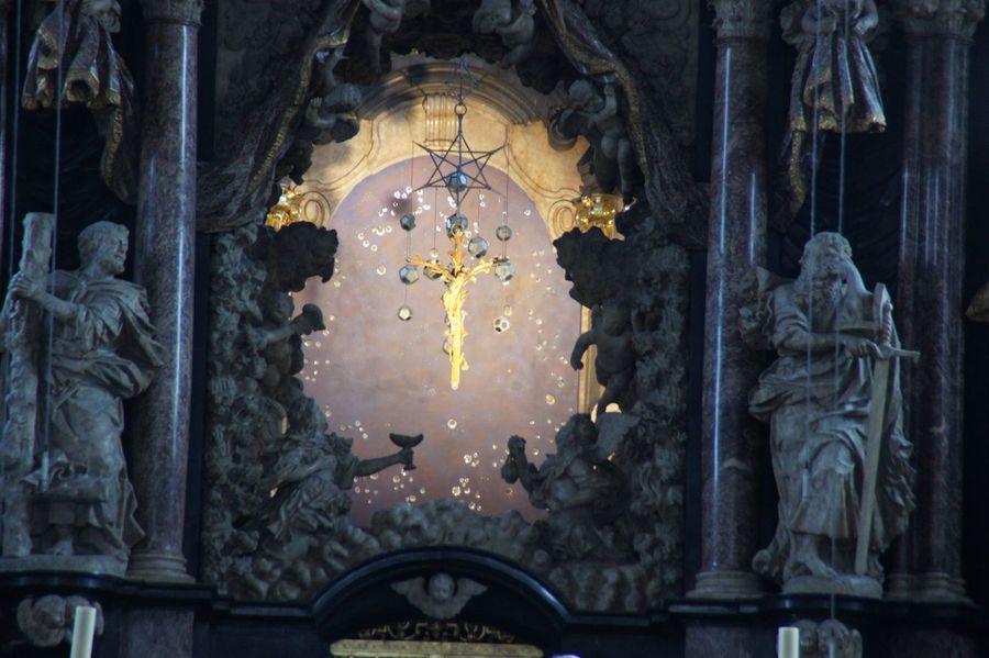 Christ Church Cross Golden Cross Jesus Religion Statue Trier Place Of Worship GERMANY🇩🇪DEUTSCHERLAND@