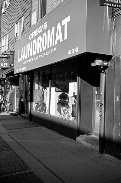Manhattan Ave, Brooklyn, January 2016 Contax Contaxt3 Neopan Neopan Acros 35mm Film Film Photography Greenpoint Brooklyn NYC Streetphoto_bw Streetphotography Street Photography Laudromat