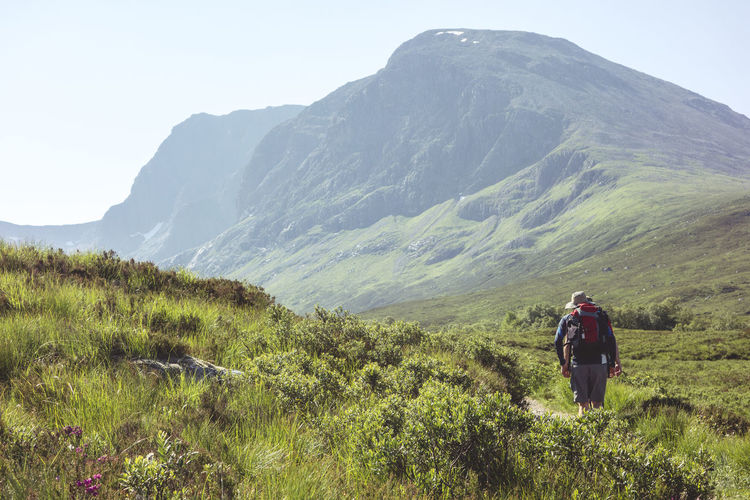 Approach Ben Nevis Exercise Exploring Hiking Hot Nature Scotland Sunny Adventure Backpack Beauty In Nature Climbing Healthy Lifestyle Hikers Leisure Activity Lifestyles Men Mountain Outdoors Real People Summer Trail Tranquil Scene Walking
