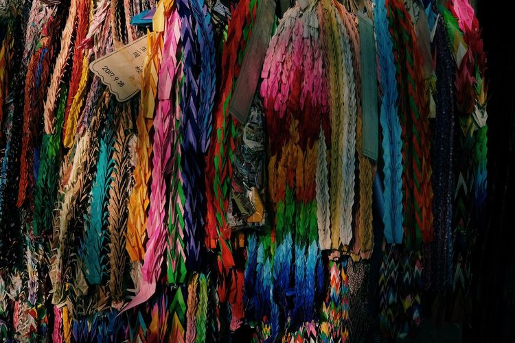 Art And Craft Backgrounds Choice Close-up Collection Creativity Day For Sale Full Frame Hanging Large Group Of Objects Market Multi Colored No People Outdoors Pattern Retail  Retail Display Scarf Textile Textured  Variation