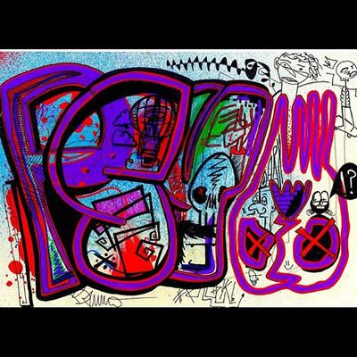 Psy Psychedelic Art 015 Freehand Posca Sharpie Spray Spraypaint BG