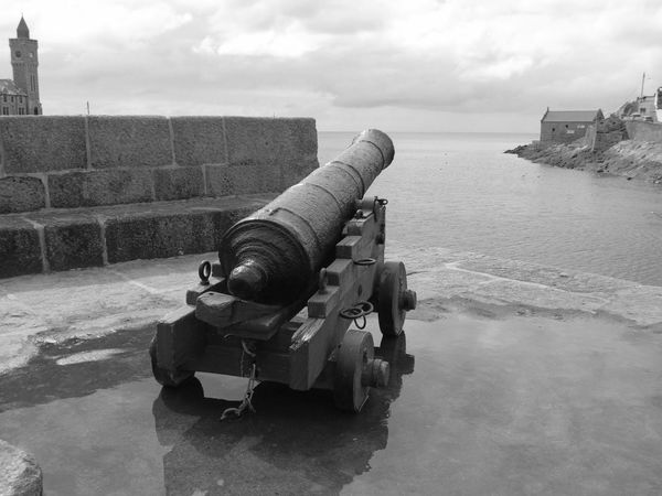 History Sea Cannon Monochrome Military No People Porthleven Cornwall Taking Photos That's Me