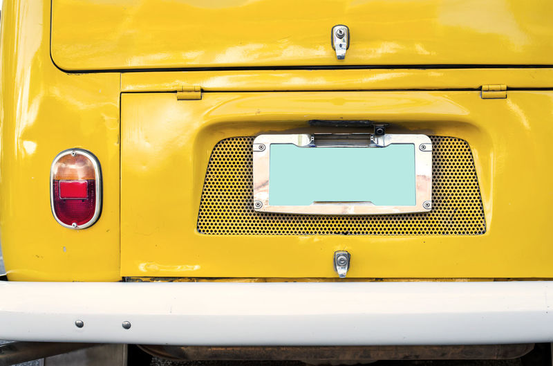Retro postcard of the vintage car Yellow Mode Of Transportation Transportation Retro Styled Close-up Car Old Vintage Car Retro Classic Car Automobile 60s Style