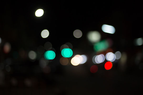 Abstract Background Bokeh Circle City Dark Defocused Electric Light Geometric Shape Glowing Illuminated Lens Flare Light Light - Natural Phenomenon Light Effect Lighting Equipment Multi Colored Night No People Outdoors Pattern Shape Street Street Light Textured Effect Vehicle Light