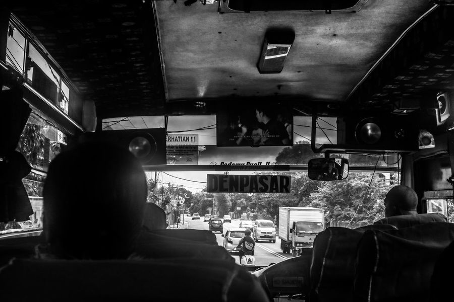 Backpacking Bali Black & White Denpasar INDONESIA Traffic Travel Photography Backpackerlife Local Bus Streetphotography