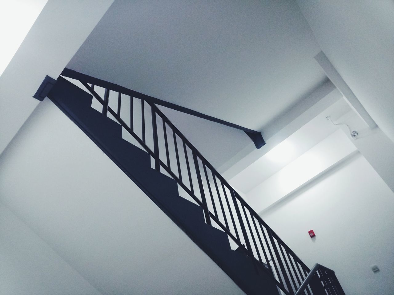railing, staircase, steps and staircases, steps, built structure, architecture, stairs, low angle view, hand rail, no people, day, indoors