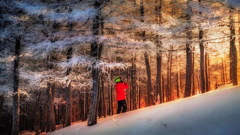 Snow mountain 1 Taking Photos Beijing, China Beauty In Nature Mountain Snow Winter Countryside Lighting Sunlight Landscape