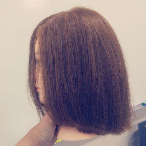 Pmts Pmtslex PAUL MITCHELL Round One Length Hair Haircut Hair Style Cosmetology School