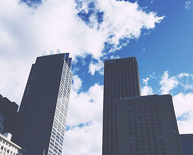 Arquitecture Buildings Sky City Life City Office Blue Urban Landscape Views Blue Sky Neutral Colors