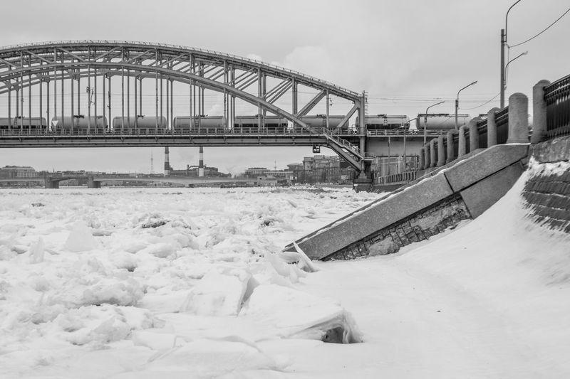 In December Architecture Bridge Bridge - Man Made Structure City Cold Temperature Ice Landscape No People Snow Winter