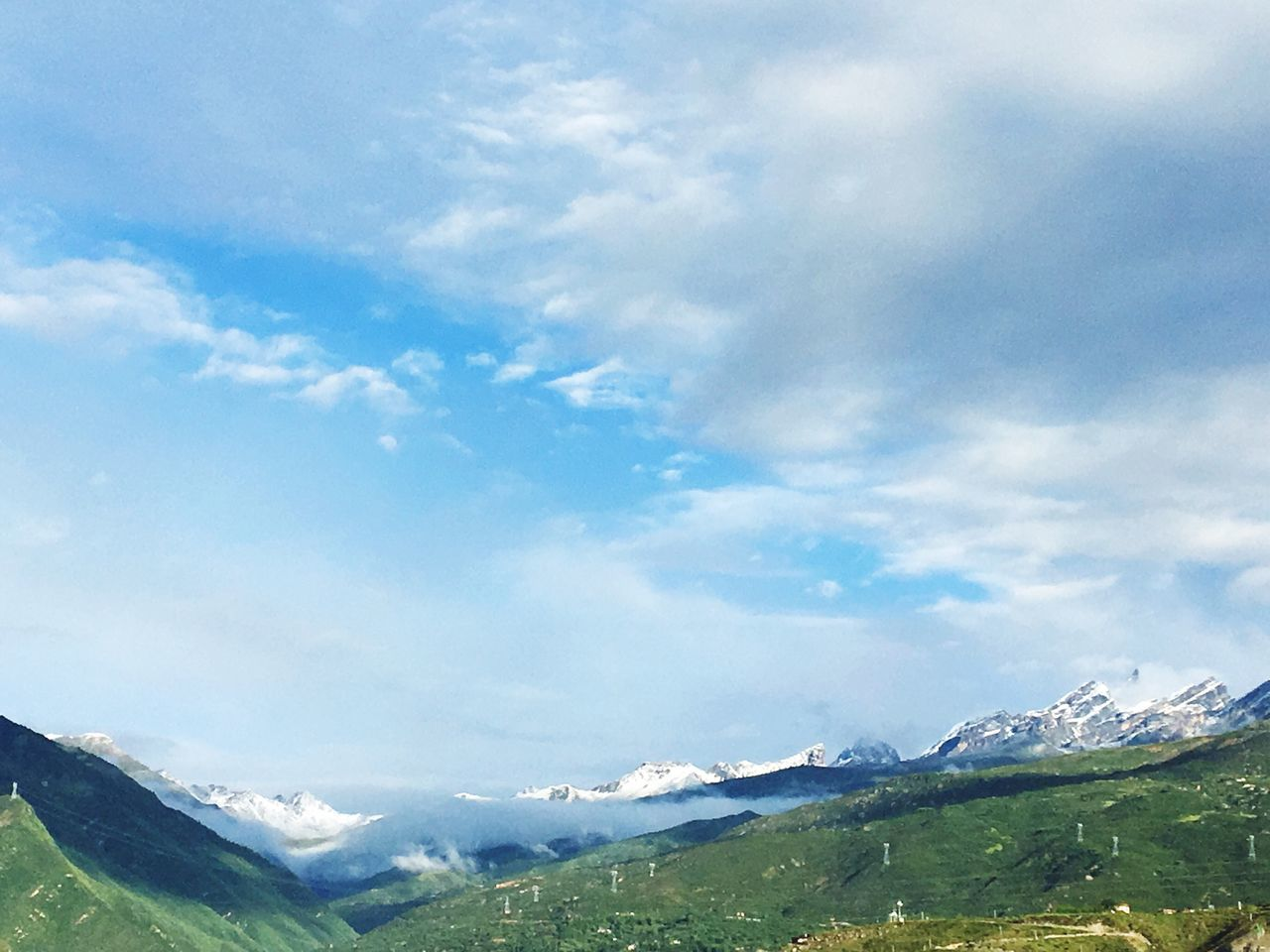 sky, mountain, scenics, nature, cloud - sky, beauty in nature, tranquil scene, tranquility, day, no people, outdoors, landscape, mountain range, cold temperature