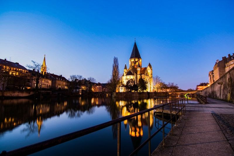 EyEmselect Night Nightphotography Light Street Old France Reflection River Water Blue Bluehour Historic