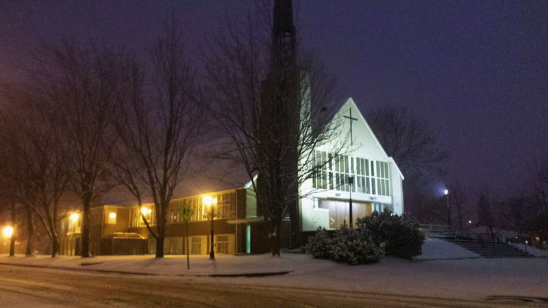 Church Taking Photos Check This Out Shocase April Oups!! WHAT IS IT !!!!!! Snow Storm Snow In April?? Churchtower Church Window Churchwindow Church Door Beautiful Sky Dark Photography Beautiful Night Sky Snow Day Snow ❄
