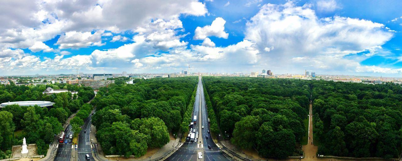 Berlin Mitte von der Siegessäule aus gesehen. cClouds And Sky BBerlin CCityscape lLandscape CCity Street Tiergarten