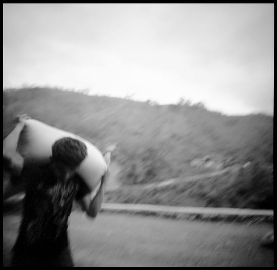 The faces of the Banaue Rice Terraces 120 Mm Agriculture Analogue Photography ASIA Banaue Blur Film Photography Heritage Labour Man Medium Format Outdoors Rice Sacks Speed Travel