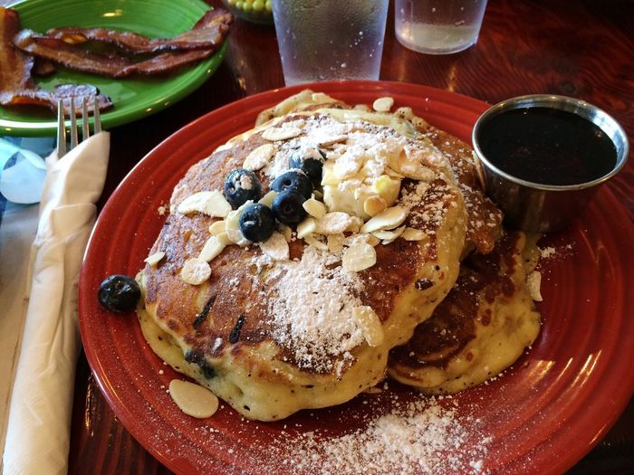 Blueberries Freshness Food And Drink Live For The Story Pancakes Maple Syrup Oats Breakfast Food Stories