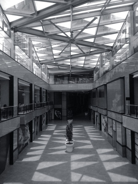 Architecture Black And White Damansara Geometry Indoors  Malaysia Mall Natural Light No People Shadow