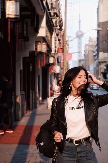 Breath deep китай Lanterns Pittiuomo Shanghai Streetstyle Hair China Ambition City Architecture One Person Building Exterior Built Structure Adult City Life Fashion Beautiful Woman Women Street Lifestyles Incidental People