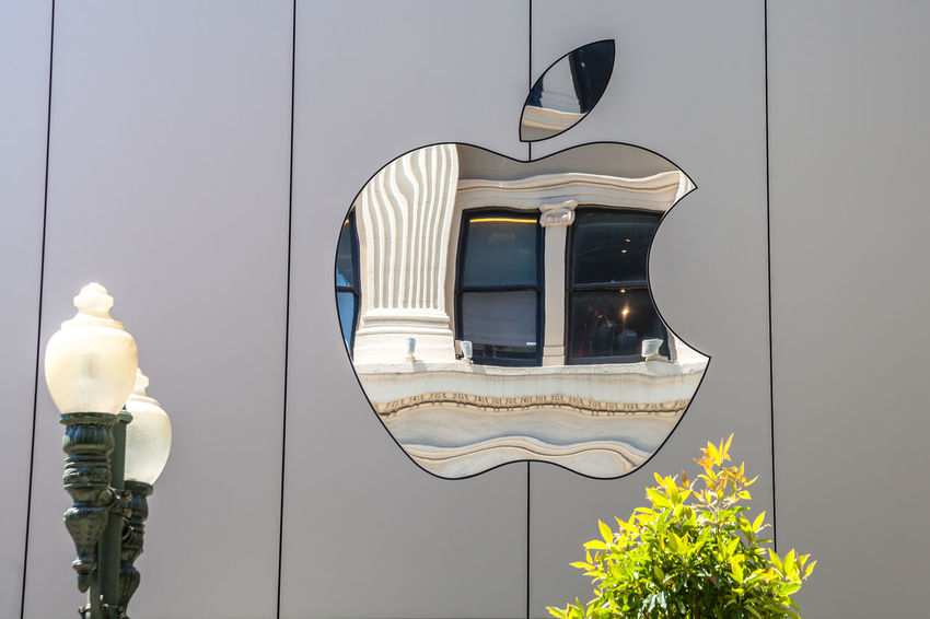Cupertino, California, United States - August 15, 2016: the Apple world headquarters at One Infinite Loop. Apple is a multinational that produces consumer electronics, personal computers and software. people come from the popular Apple store of Apple Inc Headquarters at One Infinite Loop located in Cupertino, Silicon Valley, California. Apple California IT Mac PC United States Architecture Building Building Exterior Built Structure Computer Cupertino Day Electronics Industry Flag Headquarter Headquarters Hq IMac27 IPhone Illuminated Imac Infinite Loop Lighting Equipment Mobile No People Outdoors Store