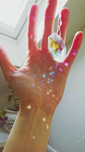 Add a little sparkle Human Hand Sparkles Crystal Roof Window Little Things Snapshots Of Life