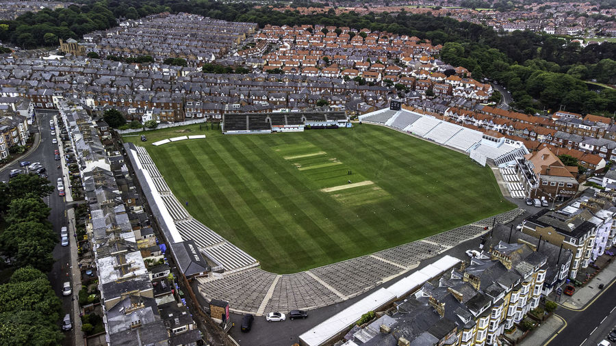 Drone shot of scarborough cricket club