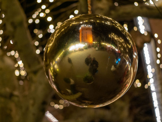 Sphere Christmas Focus On Foreground Close-up Decoration Celebration Reflection Christmas Decoration Shiny Holiday Illuminated Christmas Ornament christmas tree No People Hanging Tree Indoors  Religion Shape Silver Colored
