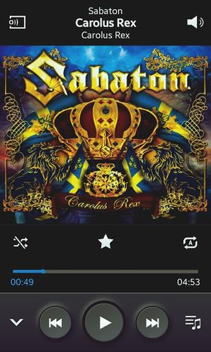 I LOVE MUSIC *_* Sabaton Now I'm Listenning Yaay ^.^