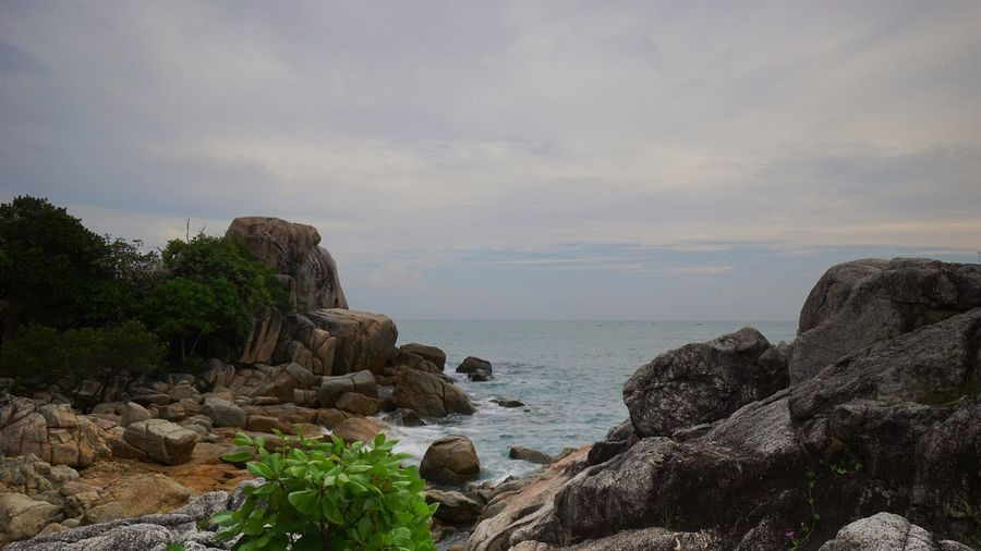 Parai Tengiri beach, Sungailiat, Bangka Indonesia. Sunrise Bangka Travel Photography Granitic Beach Rocky Beach Trip To Bangka Indonesia Scenic Seascape Scenic Scenic View Photography By @jgawibowo Shot By @jgawibowo Shot By Arif Wibowo Rock - Object Nature Cloud - Sky Sea Tranquility No People Beach Scenics Beauty In Nature Horizon Over Water Landscape