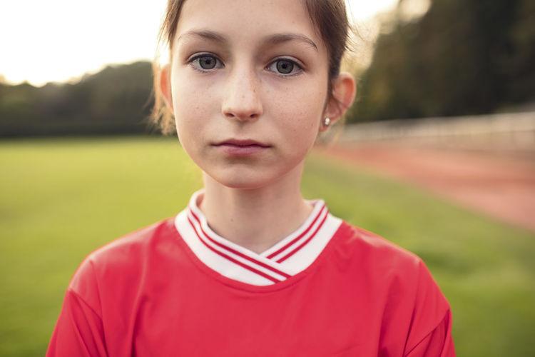 Close-up portrait of teenage boy