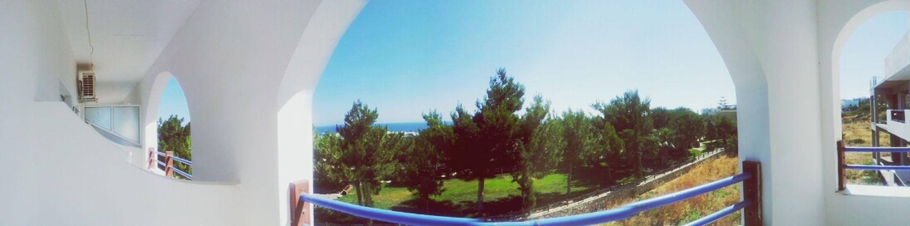 Panoramic balcony view in Crete, Greece. Holiday♡ Greece