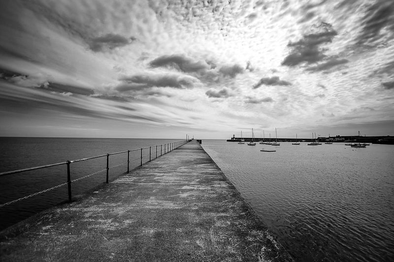 As in life, you can see the beginning but you can only image the end. Sea Sky Scenics Architecture Bridge Monochrome Blackandwhite Infinity Dublin, Ireland Natgeotravel Nature_collection Natureinblackandwhite Photooftheday EyeEm Best Shots EyeEmBestPics Black And White Friday