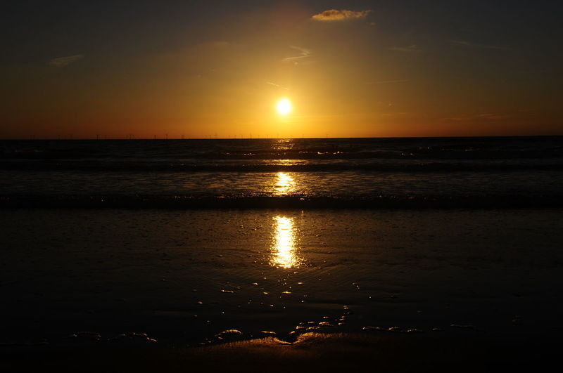 Sonnenuntergang Meer Beach Beauty In Nature Horizon Horizon Over Water Idyllic Land Nature No People Outdoors Positive Emotion Reflection Scenics - Nature Sea Sky Sun Sunlight Sunset Tranquil Scene Tranquility Water
